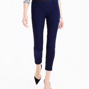 J Crew Minnie Rare Blue Cropped Stretch Pants